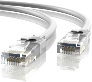 Cable Ethernet blanco categoría 6 de 20m